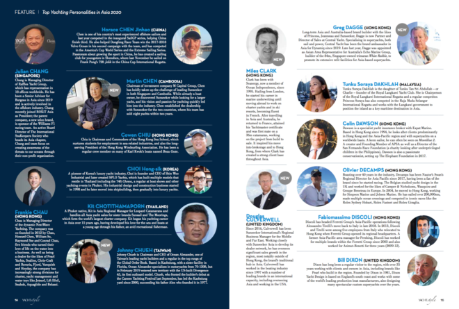 The 'Top Yachting Personalities in Asia' list has expanded to 150 for 2020