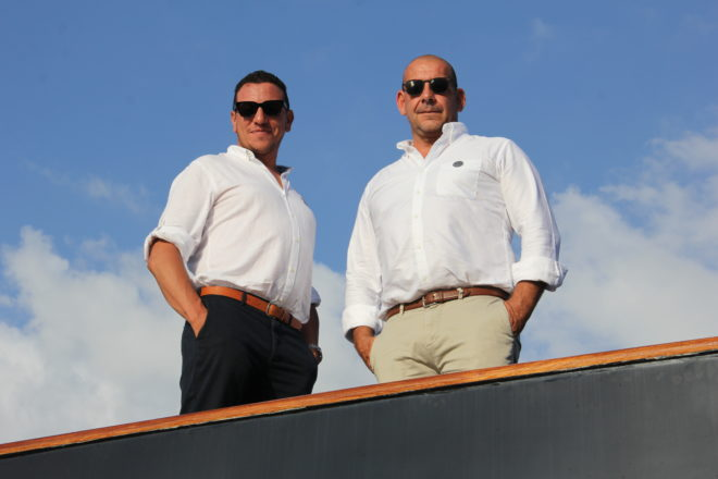 Yacht Sourcing co-founders Boum Senous and Xavier Fabre; Photo: Yacht Style