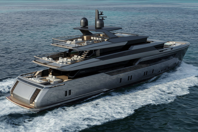 Bernardo Zuccon designed the exterior of the Sanlorenzo 44Alloy