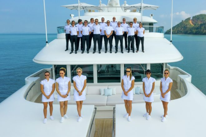 Lady E's impressive crew and range of toys made it a popular charter yacht in Asia