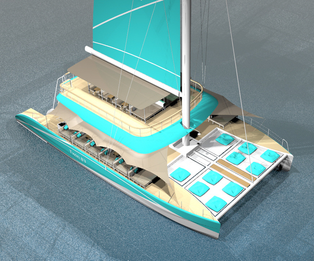 Jay Ujjin is overseeing the build of the Twin 83 sailing catamaran in Bangkok