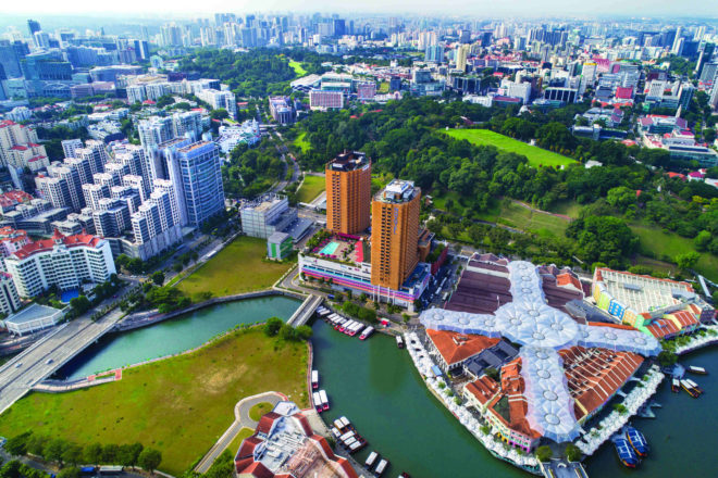 Aerial view of the Clarke Quay area set for a major spruce up