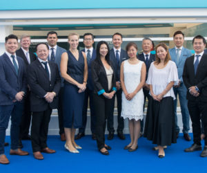 Burgess' Asia team at 2019 Monaco Yacht Show