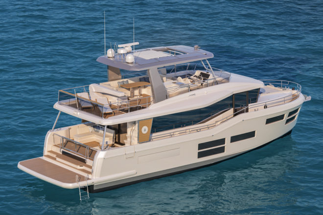 Like the 73ft version, Beneteau's 62ft Project E is also set to launch in early 2021