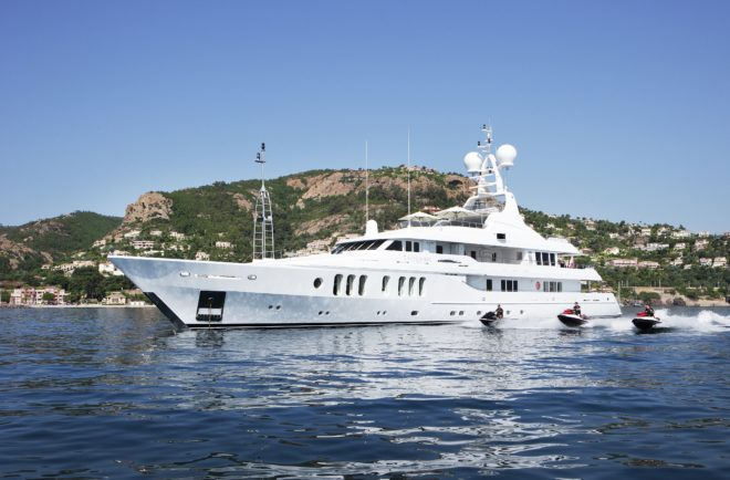 The 54m Talisman Maiton is among yachts Burgess has chartered in Asia in recent years