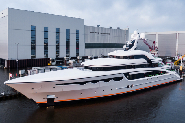 Abeking & Rasmussen yard handed over the 68m Soaring in a small-scale ceremony