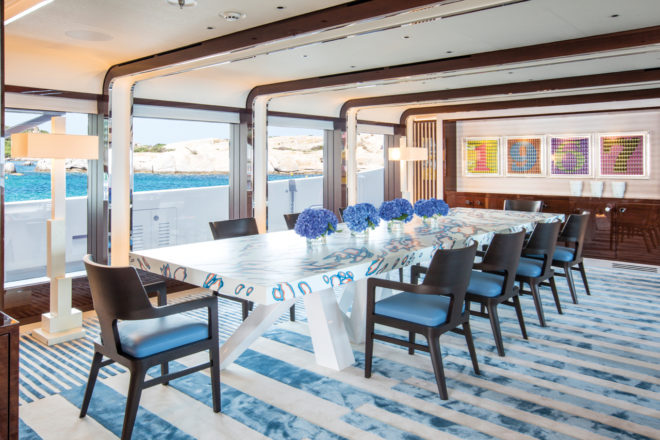 Dining room is clean, modern, elegant and offers spectacular views during service