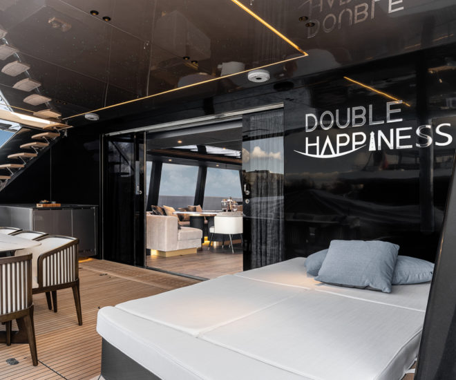 Sunreef 80 sailing catamaran Double Happiness for China