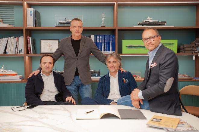 Massimo Antonini (CFO), Lorenzo Antonini (COO), Simone Antonini (COO) and Aldo Manna (Sales Director)