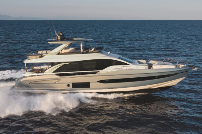 The new Azimut 78 is from the builder's Flybridge collection