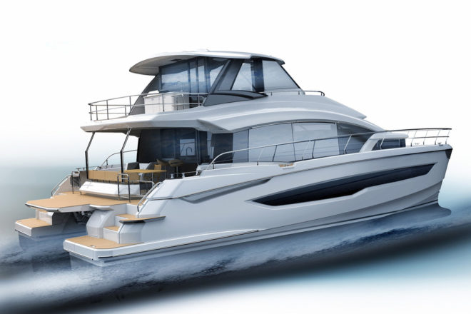 Aquila is completing the first 54 powercat (above) and 70 powercatfor debuts at Fort Lauderdale