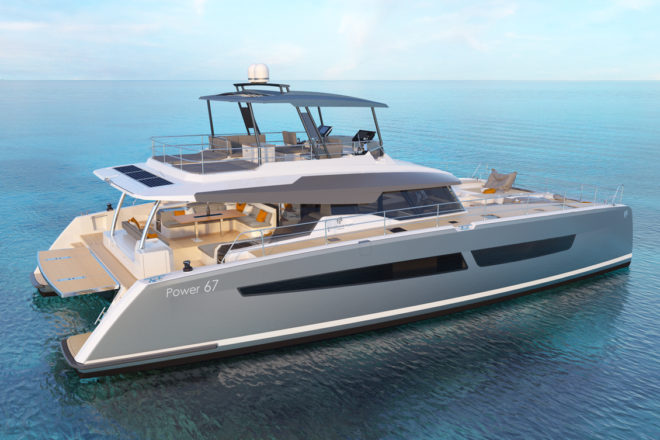 Fountaine Pajot is scheduled to stage the world premiere of its flagship motor yacht, Power 67, at this year's Cannes Yachting Festival