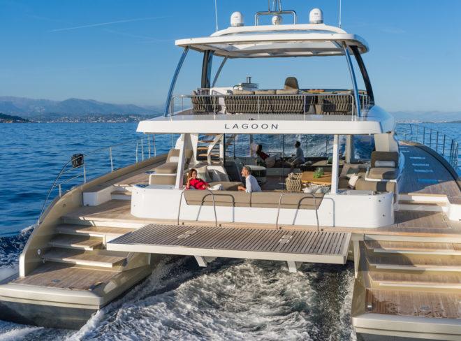 Lagoon's flagship Seventy 8 powercat; Lagoon photos: Nicolas Claris