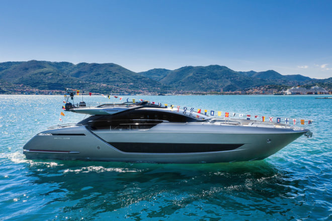 The Riva 88' Folgore was designed with Officina Italiana Design