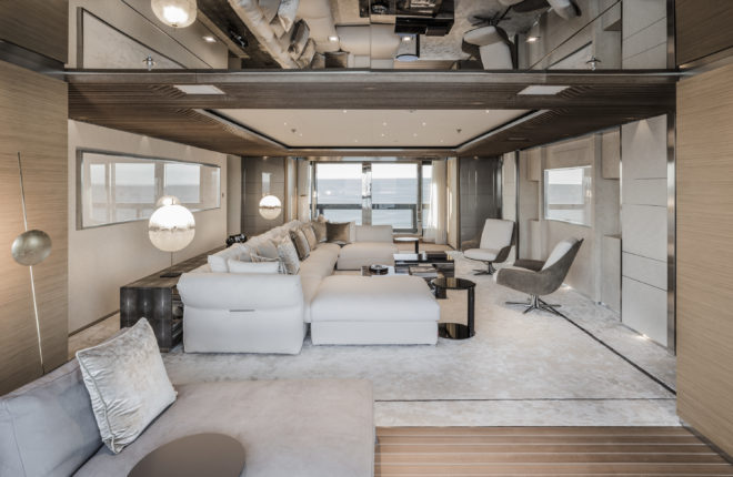 The owner's deck features a spacious lounge