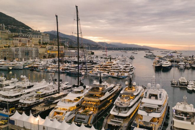 This year's Monaco Yacht Show was scheduled for September 23-26