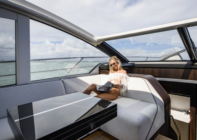 The open saloon in Sunseeker's Predator 60 Evo