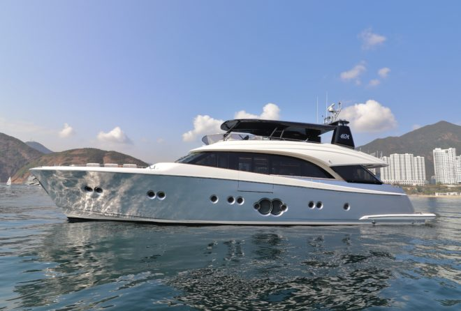 The Hong Kong-based special edition MCY 86 by Monte Carlo Yachts