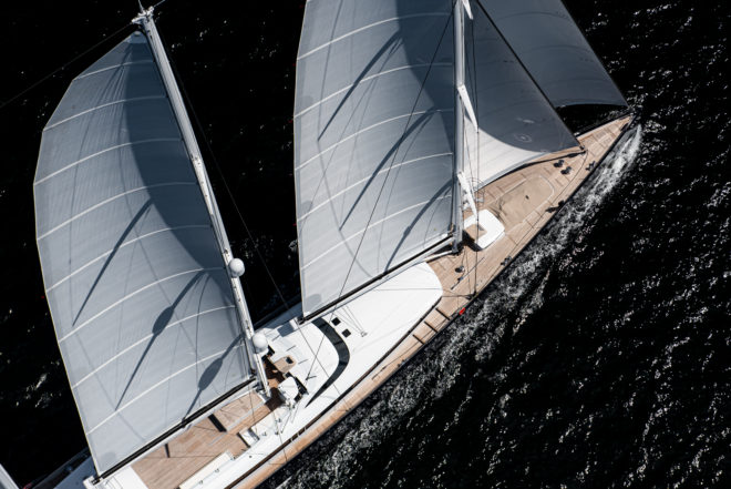 The 266ft Sea Eagle II is the world's largest aluminium sailing yacht