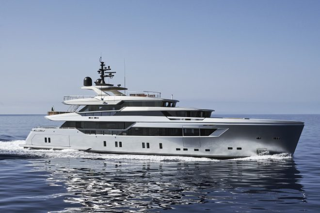 Hull one of the Sanlorenzo 44Alloy; two units will arrive in Asia this year