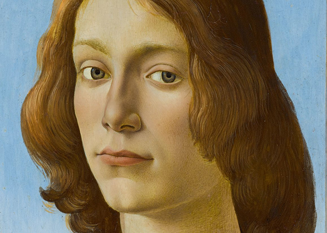 Sandro Botticelli - Young Man Holding a Roundel