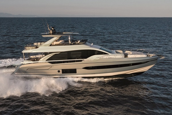 Also new in 2019, the 78 is the flagship of the Flybridge Collection