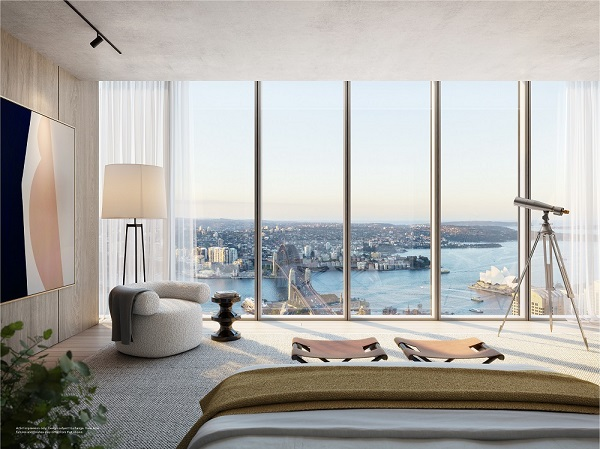The Skyhome penthouses occupy the top two floors of Residences Two
