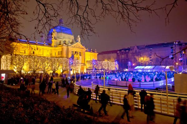 Enjoy new year's celebrations at Zagreb's festive ice rink (Photo credit: emicristea / Istock.com via AFP)